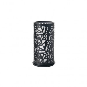 PORTA VELAS TWIST METAL PRETO 140X75MM