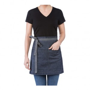 AVENTAL ROYAL CURTO C/ BOLSO TIRA DENIM AZUL