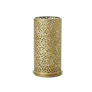 PORTA VELAS METAL OURO BLISS 140X75MM