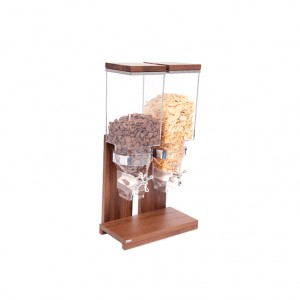 DISPENSADOR DE CEREAIS DUPLO WALNUT NATURE 2X3.5L