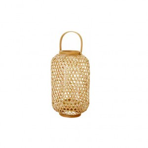 PORTA VELAS BAMBOO NATURAL 400X230MM