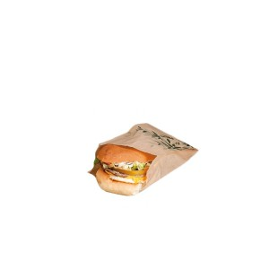 BOLSA HAMBURGER KRAFT 14+7X22CM PACK 500UN