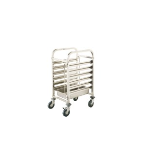 CARRO INOX 6 CONTAINERS GN1/1 65MM