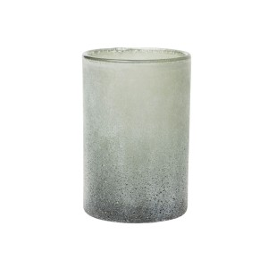 PORTA VELAS VIDRO ICE ANTRACITE 120X75MM