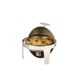 CHAFING DISH REDONDO C/ROLL TOP