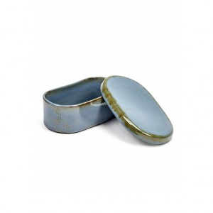 TERRES DE REVES MANTEIGUEIRA OVAL SMOKEY BLUE 14.5X8.5CM